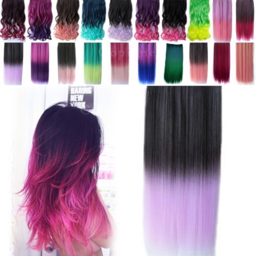 28 best hair extensions images on pinterest clip in hair long sexy straight hair extensions ombre color synthetic clip in hairpiece no11 pmusecretfo Images