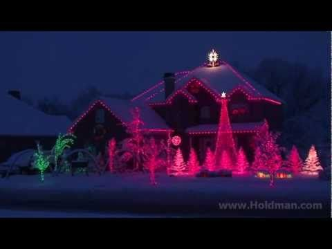 Holdman Christmas lights in Utah. I could watch this video over and over... AMAZING!