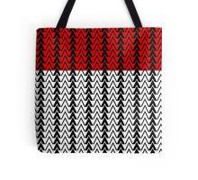 red peak geometric pattern tote