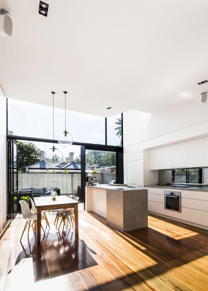 Turner_St-4. interior. design. home. decor. kitchen set. modern house. home. decoration. glass. door. big window. minimalist style