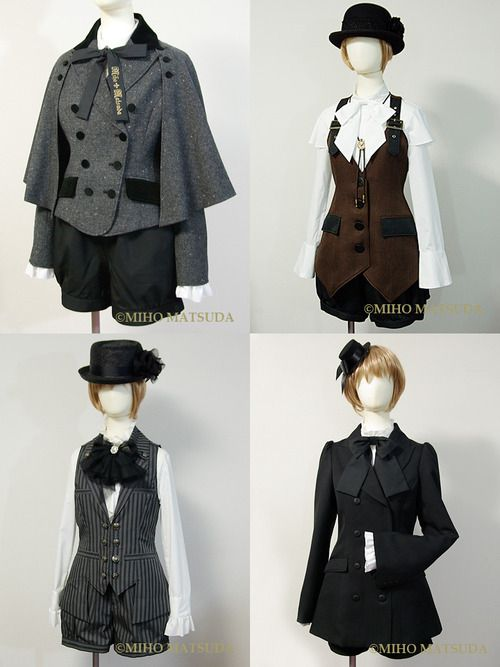 Steampunk Elegant Gothic Lolita style outfits