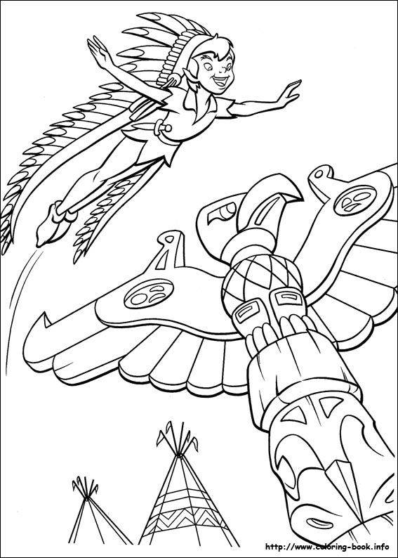 1000 Ideas About Peter Pan Coloring Pages On Pinterest