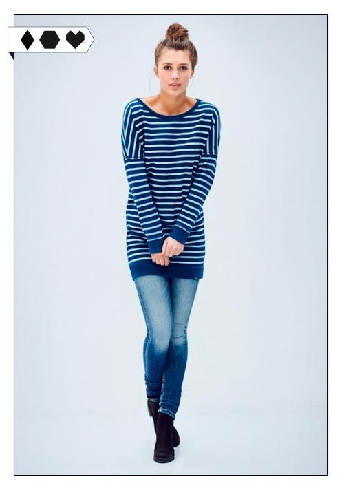 Gillian Stripe Sweat Dress (Kuyichi): 100% Organic Cotton aus Portugal, GOTS zertifiziert. Fair hergestellt in Mazedonien. VEGAN/ECO/SOCIAL/*99,95€*