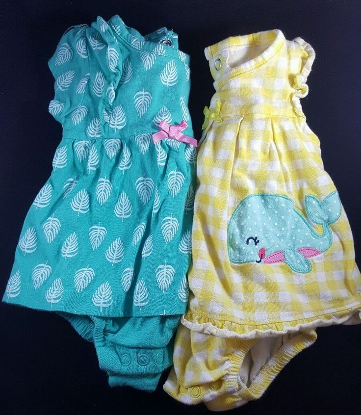 infant baby girlu0027s set outfits lot 2 bodysuit dress 0m 3m