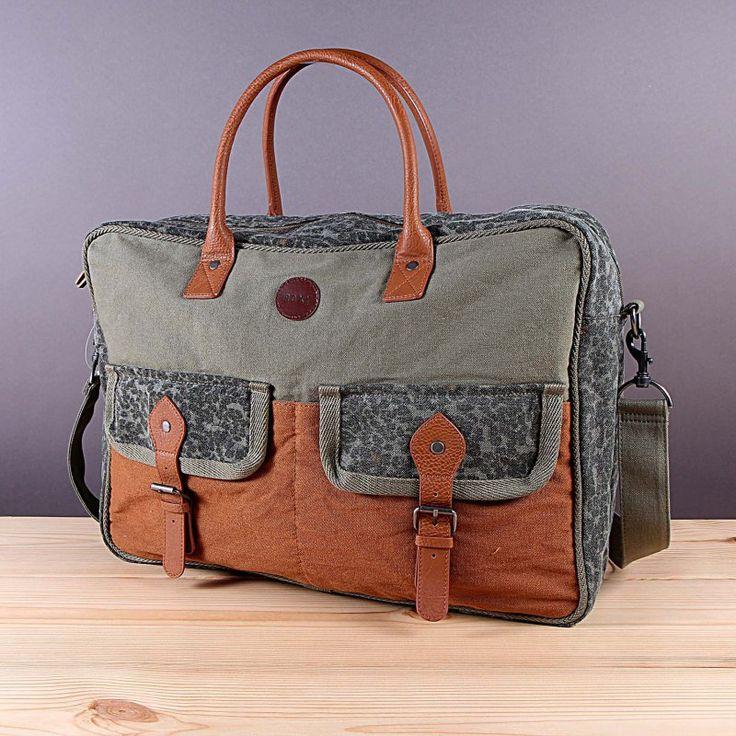 Pojemna miejska torba Roxy Occupy - Military Olive. Modny w tym sezonie krój! / www.brandsplanet.pl / #roxy