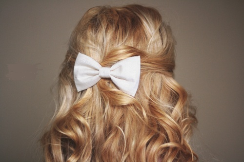 Cute bow hairstyle hair envy pinterest