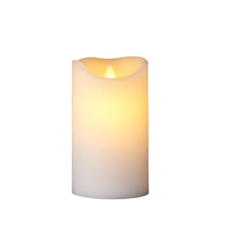 Bougie lumineuse LED vraie cire vacillante 7×15 cm Lot de 2 télécommandable
