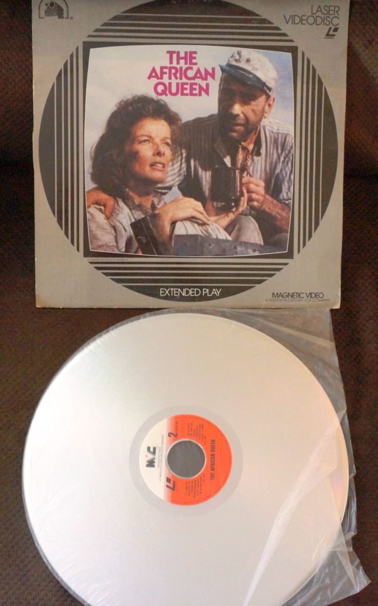 """Excited to share the latest addition to my #etsy shop:  The African Queen Laser Disc of the 1951 film """"The African Queen"""" - Katharine Hepburn and Humphrey Bogart Laser Disc http://etsy.me/2CTwPpM"""