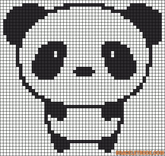 Cute panda perler bead pattern