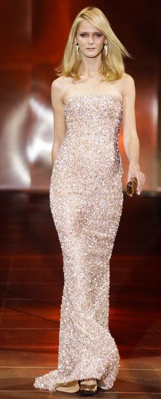 Armani Prive ....looks like this dress would be heavy, I don't like the strapless top