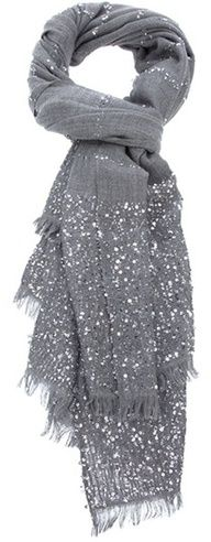 Grey sparkle scarf