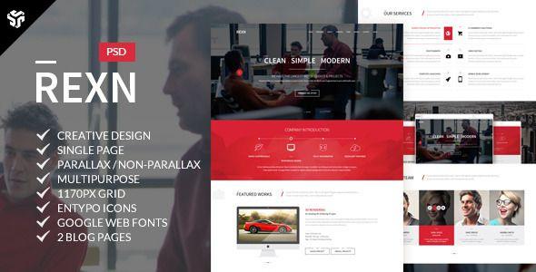 Rexn   Multi-Purpose Parallax PSD Landing Page