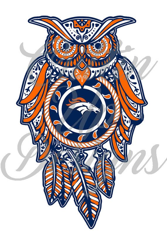Denver Broncos  Sugar Skull Dreamcatcher Owl by daniscustoms