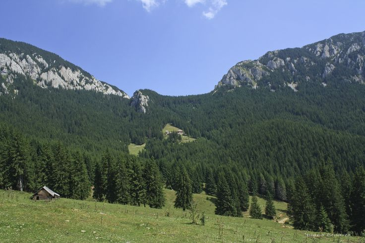 The spectacular Piatra Craiului Mountains, with the highest and longest lime ridge in the Carpathian Mountains, Romania.