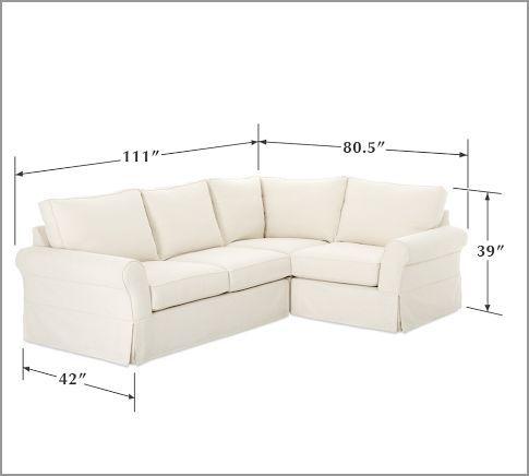 Pottery Barn PB fort Slipcovered 3 piece Sectional also in regular couch