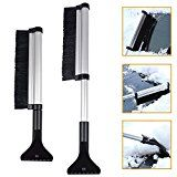 Retractable Ice Shovel  SUNNIOR Winter Car Snow Better Helper Thick Brush Head Shovel and Handle Winter Essential Snow Removal Shovel Car Scraper Snow Defrost Vehicle Tools
