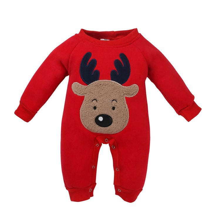 Victory! Check out my new Baby's Cute Appliqued Reindeer Pullover Long-sleeve One Piece Unisex, snagged at a crazy discounted price with the PatPat app.
