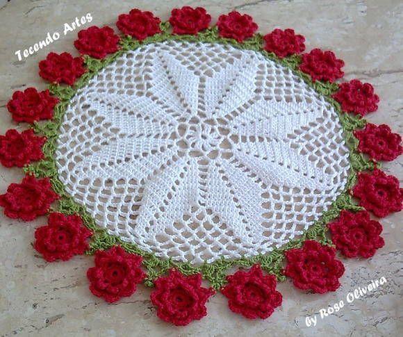 CENTRO DE MESA FLORES | Crochet ❤ | Pinterest | Mesas