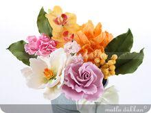 Şeker Hamurundan Çiçek Kursu CCK101 - Bahar Buketi