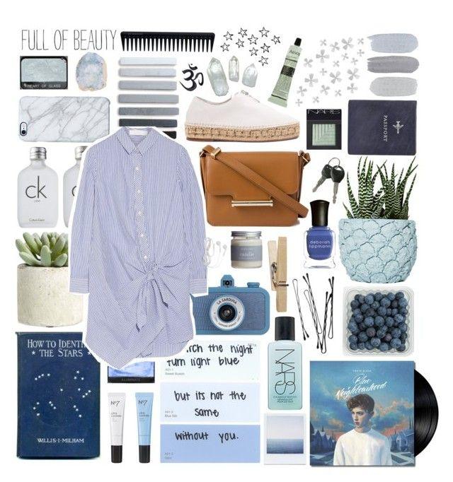 """blue neighborhood"" by mackenziehoffman ❤ liked on Polyvore featuring Boots No7, FOSSIL, Deborah Lippmann, NARS Cosmetics, Chen Chen & Kai Williams, Alexander Wang, Jason Wu, Calvin Klein, Allstate Floral and Common Good"