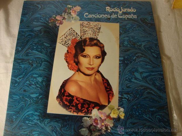 DISCO FLAMENCO LP ROCIO JURADO CANCIONES DE ESPAÑA RCA 1981 Label RCA España