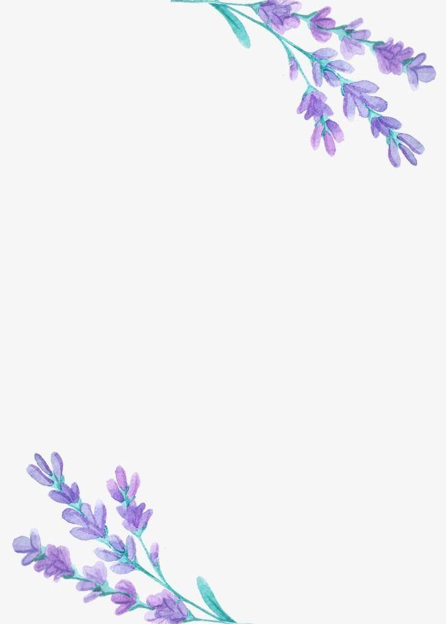 Beautiful Lavender Lavender Purple Flower Png Transparent Clipart Image And Psd File For Free Download Floral Background Flower Backgrounds Floral Border Design