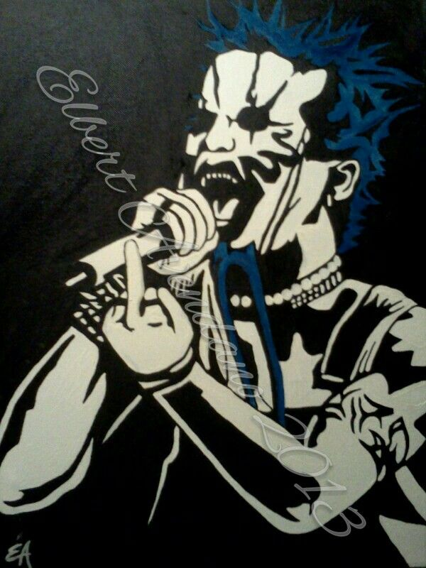 My Painting Of Chad Gray Of Mudvayne Oil On 16x20 Canvas Elberts