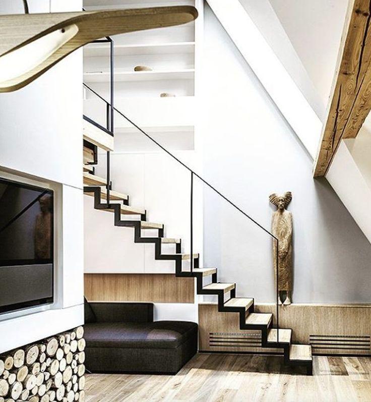 Beautiful interior featuring Bang & Olufsen BeoVision 11 shared by Bartek Włodarczyk Architekt on Instagram!