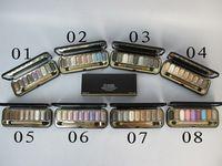 Marca de fábrica superior 10 unids maquillaje paleta LES 9 sombras de ojos 74 NYMPHEA 21 g maquillaje de ojos color 8 tipos elige el envío gratuito