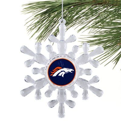 Denver Broncos  Snowflake Ornament
