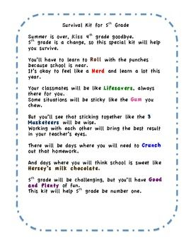 FREE little poem for beginning of the school year - gives ...