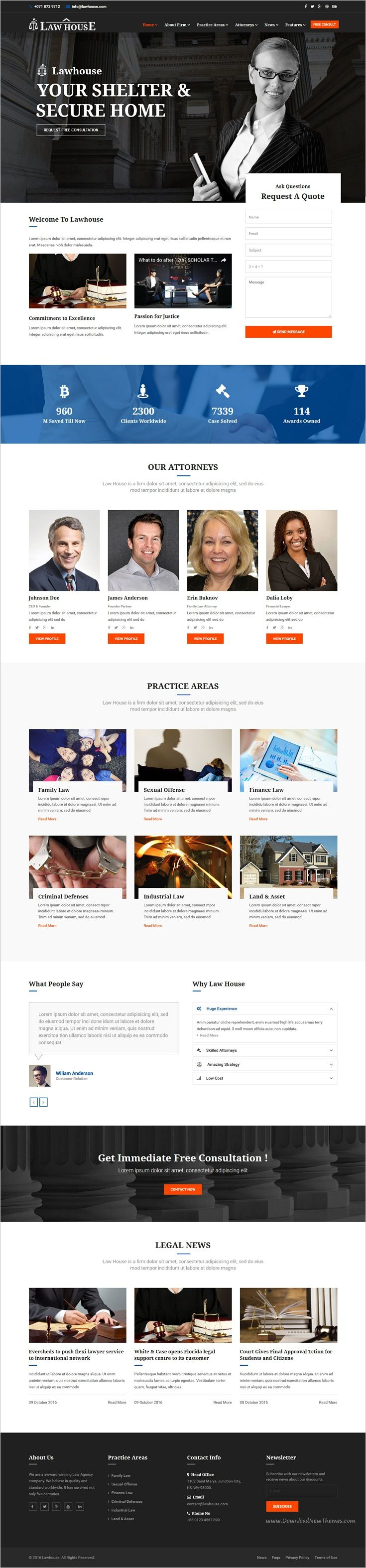 Best 25 lawyer website ideas on pinterest law firm website law lawhouse joomla template for lawyers attorneys and law firm pronofoot35fo Choice Image