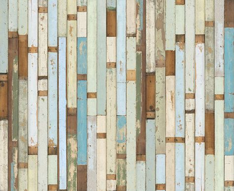 Piet Hein Eek Scrapwood Wallpaper, via design*sponge
