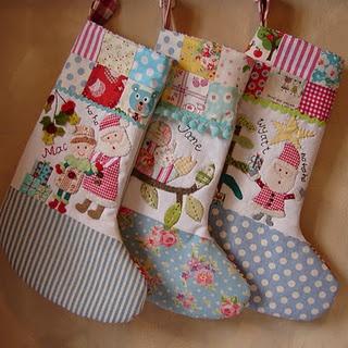 appliqued stockings