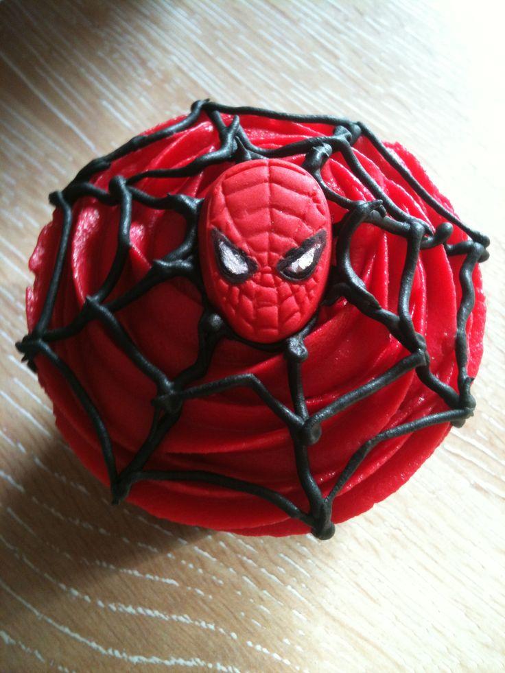 Kieran S Superhero Spider Man Cupcakes In 2019 Halloween