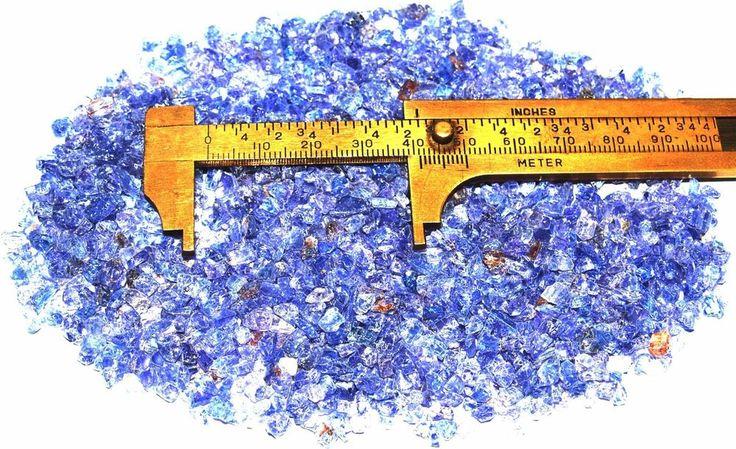 Blue Tanzanite Crystals Rough Tanzania up to 3mm 78 grams