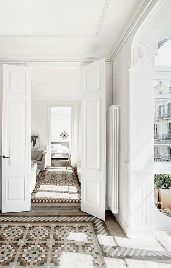 = detailed parquet floors = french apartment