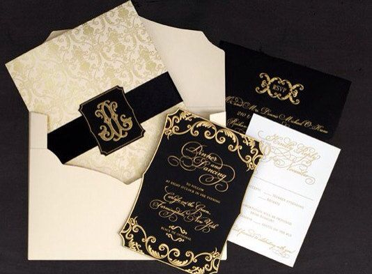 The Great Gatsby Invitation Card, RSVP Card, Reception Card, Save The Date Card, Menu Card - RoyalStyleWedding On Etsy