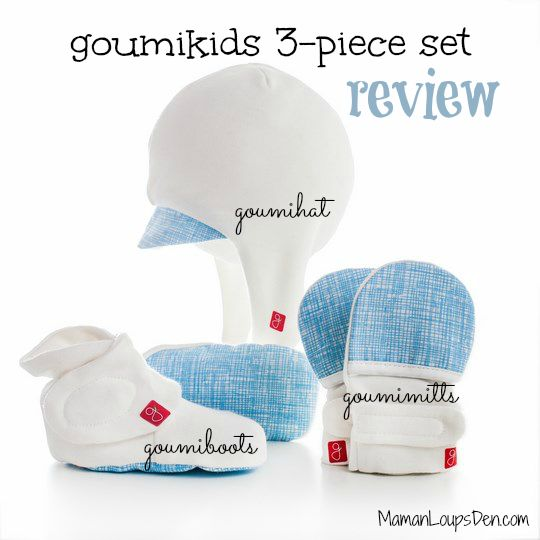 Goumi Kids Review: Baby hat, mittens and booties that stay put!