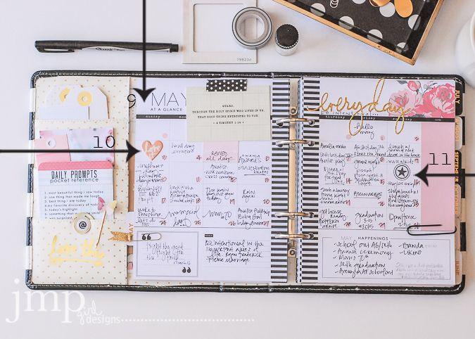 The anatomy of a @HeidiSwapp Memory Planner by @jamiepate
