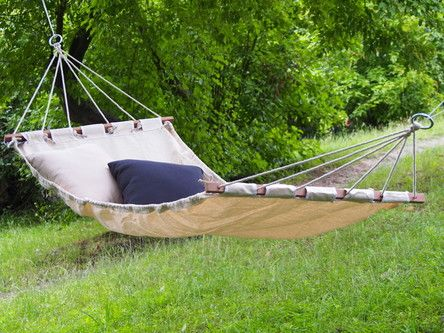 Hamak ogrodowy Alicante z poduszką ecru 200x100 cm - Najpopularniejsze - HOUSE&more