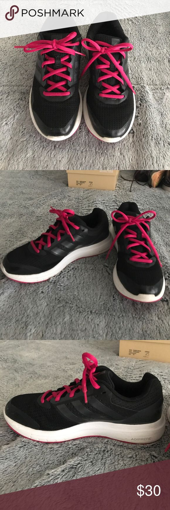 Adidas Adiprene running sneakers Adidas adiprene running sneakers. Black with hot pink laces. Worn only a few times. Light and great for running adidas Shoes Sneakers