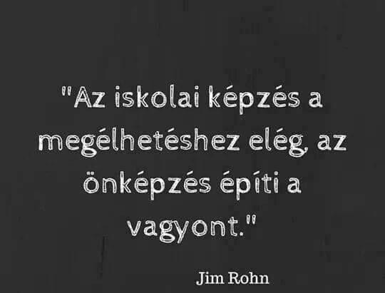Jim Rohn idézet a tanulásról. A kép forrása: Ébredés