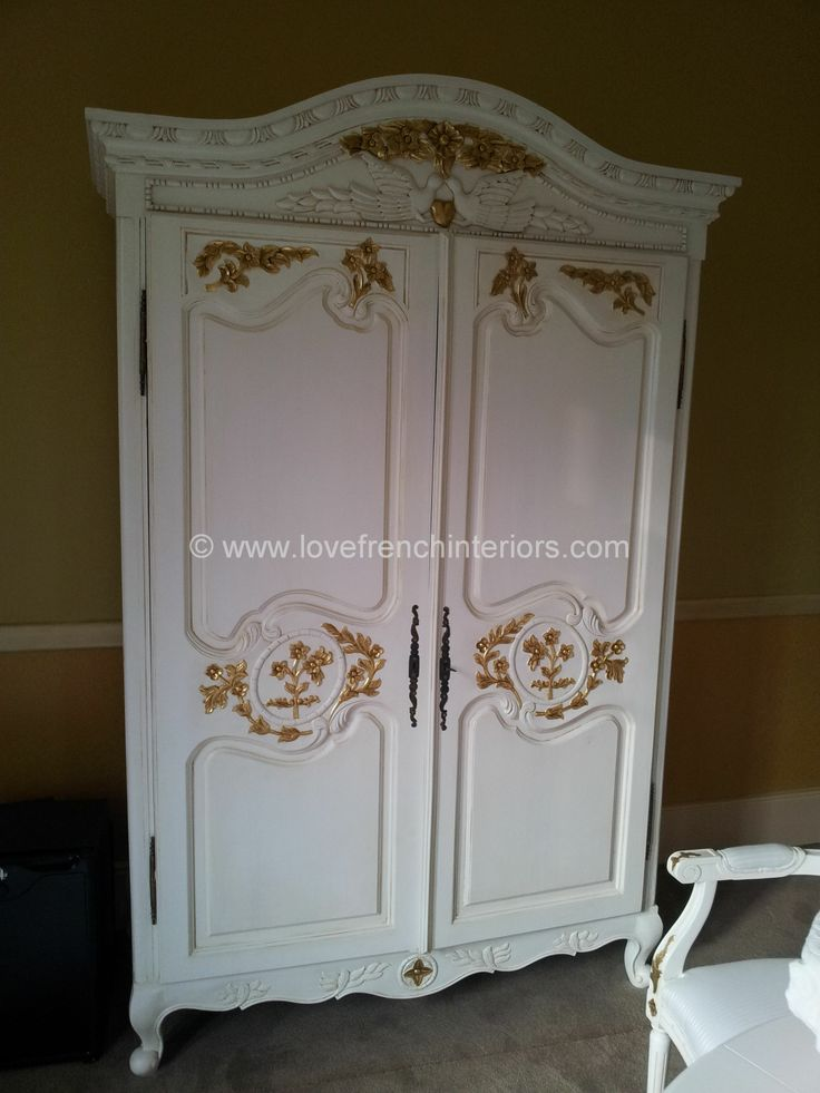 Bon White And Gold French Armoire