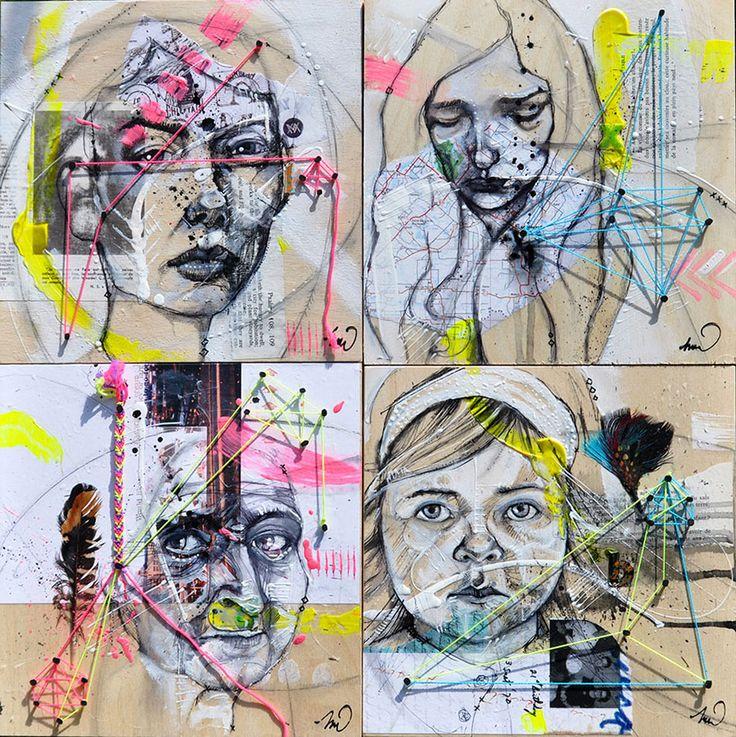 Identities - Mixed Medias - 20x20 ©Melissa Wilcox - artist