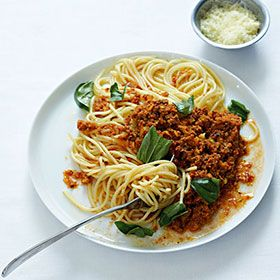 Spaghetti with bolognese