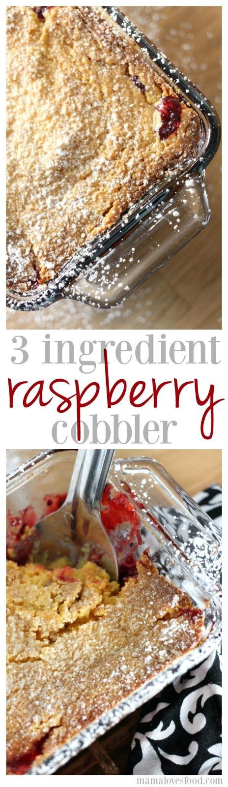 Three Ingredient Raspberry Cobbler- okay, okay... i added a fourth ingredient.  but you don't have to ;-)