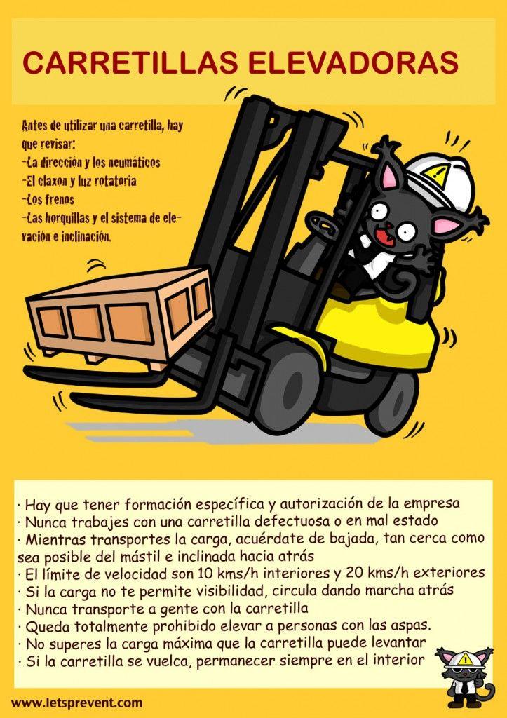 Infografía: Fichas Informativas Carretillas Elevadoras #letsprevent #prl