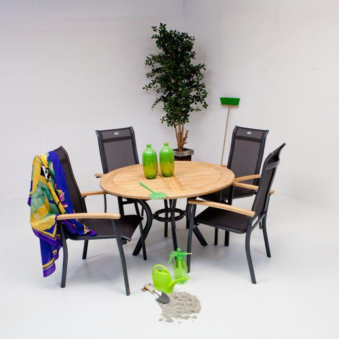 hartman south wales teak 120cm met alice dining teak hartman aluminium tuinmeubelen collectie. Black Bedroom Furniture Sets. Home Design Ideas