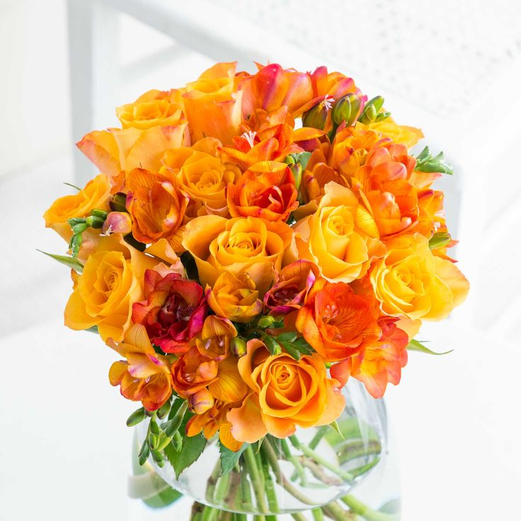 Autumn Rose & Freesia: This ever-popular bouquet oozes colour of the season and will bring a touch of Autumn into the home of a friend or loved one.
